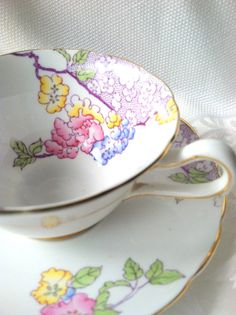 Vintage Grosvenor Bone China England Tea Cup by MariasFarmhouse, $48.00