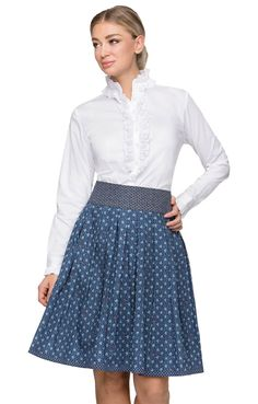 Trachtenrock trueblue Lace Skirt, Chic, Skirts, Fashion, Outfit, Blouse, Style, La Mode, Dirndl