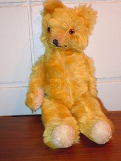 Annette Funicello Collectible Bear Co Pink Mohair Flat Bear Rug W/ Bear Keep You Fit All The Time Dolls & Bears