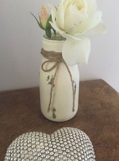 Enter to win: Shabby Chic Up-Cycled Bottle | http://www.dango.co.nz/pinterestRedirect.php