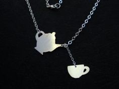 Teapot and cup necklace!  Unique CUTENESS!!