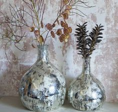 Latika Leaf Vase from Nkuku Floor Vase Decor, Tall Floor Vases, Glass Table, Glass Jars, Flower Vases, Flower Pots, Origami Table, Hanging Vases, Mercury Glass