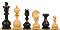Dublin Antique Reproduction Chess Set Ebony  Boxwood Pieces  4 King *** Click image for more details.