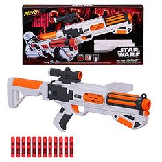 Star Wars NERF First Order Stormtrooper Foam Dart Bullet Blaster Kids Rifle Gun @ niftywarehouse.com