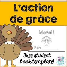 Great for Core French or Immersion students! A quick activity to get them thinking about things that they are thankful for at Thanksgiving :) French Teacher, Teaching French, Grade 1, School Age Activities, French Worksheets, French For Beginners, French Education, Core French, French Classroom