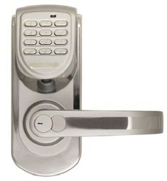 Best Digital Door Lock RIGHT Hand KEYLESS 200 Code Program Silver Handle Entry G #LockState
