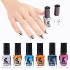 6 Color Mirror Metal Effect Gel Nail Polish Sky Blue Professional Primer Glue Cheap Nail Art Gel Lacquer Color Tale Paint Set #>=#>=#>=#>=#> Click on the pin to check out discount price, color, size, shipping, etc. Save and like it!