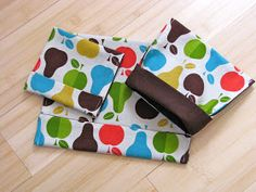 """Reusable Snack Bag Tutorial - Try using """"procare"""" fabric or ripstop nylon on the inside layer."""