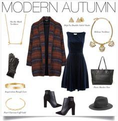 Velvet, plaid, black, gold & dark blue - loving this modern look in autumn! | Stella & Dot