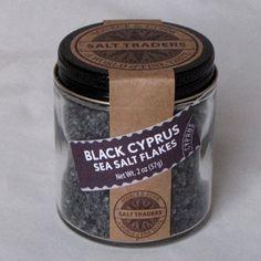 Black Sea Salt | Black Cyprus Sea Salt Flakes | Flake Salt | Gourmet Salt