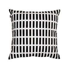 The Siena Pillow Cover features Alvar Aalto's Siena fabric pattern designed in 1954. The series of simple repeated bars creates a distinctively modern impression in 1 of 2 colors in 100% cotton. Use w
