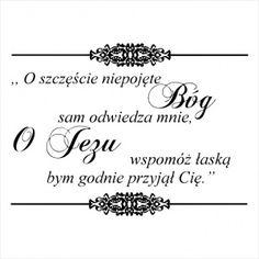 Stempel napis - tekst Komunijny CraftyMoly