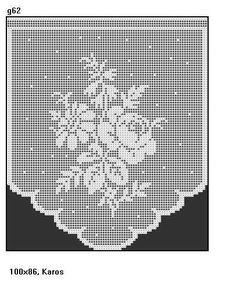 Crochet Curtains, Crochet Doilies, Crochet Stitches, Crochet Curtain Pattern, Filet Crochet Charts, Curtain Patterns, Crochet Boarders, Crochet Squares, Crochet Cross