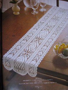 closet for crocheted napkin: مفرش كروشية طويل.Crocheted rectangle Mattress