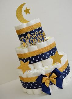 torta de pañales para baby shower niño paso a paso