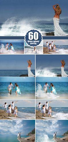 60 type of water photo Overlays, splatter Overlays, Photography Overlays, Photography Textures, Digital Download, png files