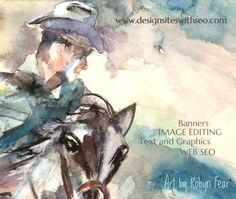 Banners, Art, Graphics, Website Design and SEO - watercolor painting by Robyn Fear