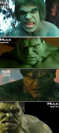Hulk through the years...