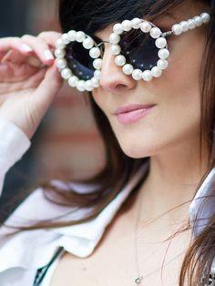 67e6bc5bf6c2 Want  em  Get Badgalriri s favorite Chanel pearl frames on R29 Shops!  Chanel Sunglasses