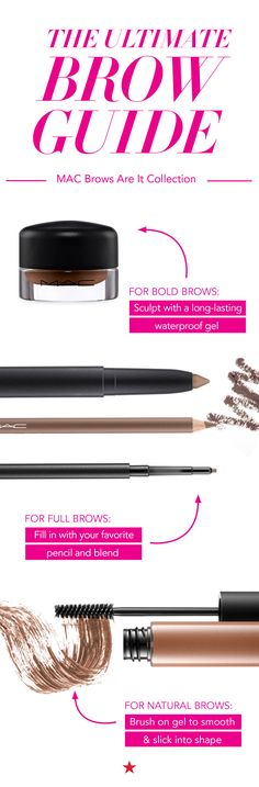 Are you trying to create a bold, full or natural brow look? The new MAC Brows Are It Collection has the right tool for whatever your brow goals may be.