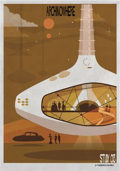 ARCHINOWHERE: A Parallel Archi-Universe Illustrated by Federico Babina,Courtesy of Federico Babina