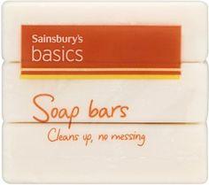 Sainsbury's Basics Soap Bars (3x125g) Sainsburys, Clean Up, Bar Soap