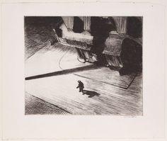 Night Shadows, 1921, de Edward Hopper,gravura em metal