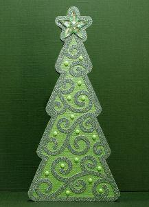 Fichier silhouette gratuit sapin de Noël arabesque