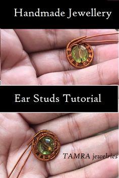 Copper Wire Jewelry, Wire Jewelry Making, Handmade Jewelry Tutorials, Handmade Jewellery, Wire Wrapped Earrings, Wire Earrings, Video Tutorials, Craft Tutorials, Wire Weaving Tutorial