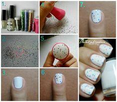 nail art, technique stamping, tuto, pas à pas