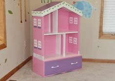 Doll house out of old dresser