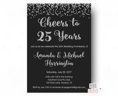 20 great 25th wedding anniversary invitation wording ideas card 25th anniversary invitations printable 25th wedding stopboris Gallery