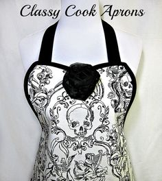 Apron in an Alexander Henry limited edition screenprint entitled, Skullduggery, that is truly a work of art! This fabric is a medium weight