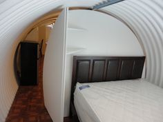 corrugated survival shelter underground 004   Underground Homes: Atlas Survival Shelters