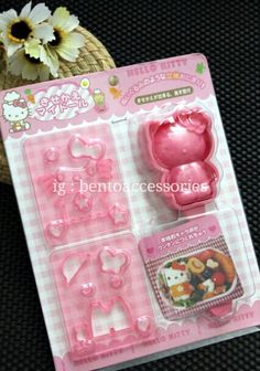 Cetakan nasi hellokitty with cutters