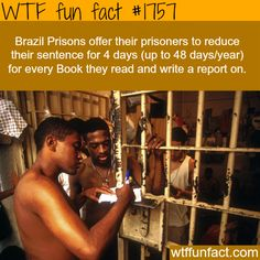 Brazil prisons reduce prisoners' sentence for reading books - WTF fun facts