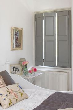 Plantation Shutters, Lincoln, Window Shutters, East of England, Wooden Shutters Wooden Window Shutters, Bedroom Shutters, Bedroom Windows, Window Shutters Inside, Rustic Shutters, Bedroom Curtains, Bay Window, Interior Windows, Townhouse