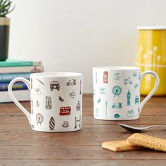 Introducing the brand new Simply London Collection for 2016. No matter where you are in the world, this mug will remind you of everything you love about London. Showcasing the nostalgic, whimsical view of the London and beautifully hand illustrated with landmarks like the Big Ben, the London Eye, Tower Bridge and even an occasional resident pigeon!  Available in Charcoal and Turquoise.  This design is also available on aprons, tea towels, oven gloves, canvas bags and coasters.