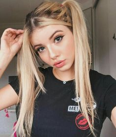 Pin on Beautiful girls Pin on Beautiful girls - Modern Ponytail Hairstyles, Cool Hairstyles, Ulzzang Hairstyle, Mustang Girl, Makeup News, Gorgeous Hair, Beautiful, Girls Dpz, How To Make Hair