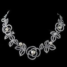 Diamond White, Jewelry, Necklace, Rhodium