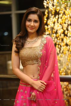 Check Out Exclusive Photoshoot of Raashi Khanna in Pink Dress at Srinivasa Kalyanam Success Meet Beautiful Girl Photo, Beautiful Girl Indian, Most Beautiful Indian Actress, South Indian Actress Photo, Indian Actress Hot Pics, Indian Actresses, Cute Little Girl Dresses, Indian Gowns Dresses, Saree Models