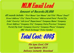 Phone Companies, Job Title, City State, Email List, Company Names, First Names, Online Marketing, Real Estate, Business Names