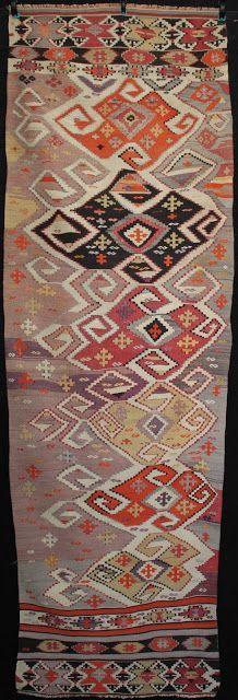KARAKEÇÍLÍ tribal runner (kilim) from western Anatolia, ca. 1900.