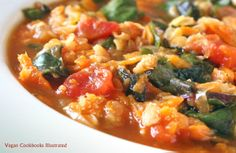 Vegan Chard and Red Lentil Soup from the cookbook Quick-Fix Vegan
