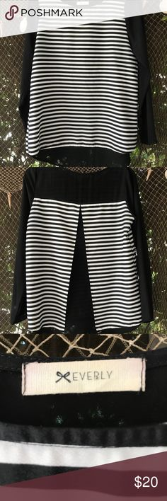 Black and white striped lady bug back top Fun black and white striped top with lady bug back by Everly Everly Tops Blouses