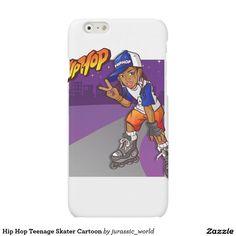 Hip Hop Teenage Skater Cartoon Matte iPhone 6 Case