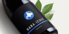 Hana Ichi Sake Label Design