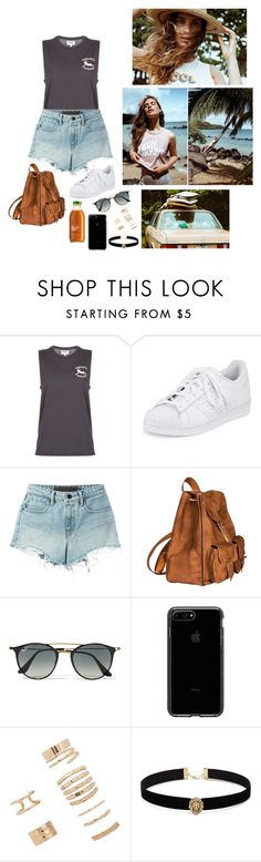 """""""mate the label"""" by giulisdasf ❤ liked on Polyvore featuring MATE the Label, adidas, T By Alexander Wang, Yves Saint Laurent, Ray-Ban and Forever 21"""