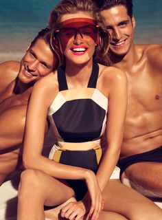 Edita Vilkeviciute Sizzles on the Beach for Allures March Issue by Tom Munro | Fashion Gone Rogue: The Latest in Editorials and Campaigns