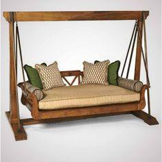 Teak Swing Bed